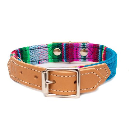 Inca Dark Blue - Dog Collar