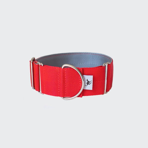 Greyhound, lurcher and whippet collar red. Pointy Faces