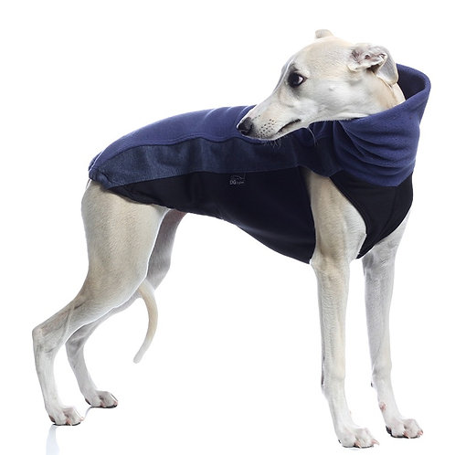 whippet lurcher greyhound jumper. Blue Sighthound pyjamas UK