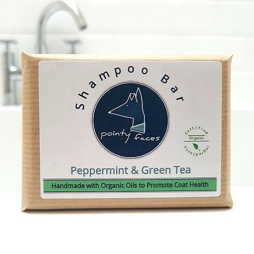 Organic Dog Shampoo Bar Peppermint. Handmade dog soap by Pointy Faces
