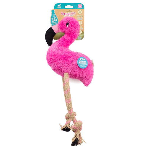 Best toy for whippet. Fernando the Flamingo