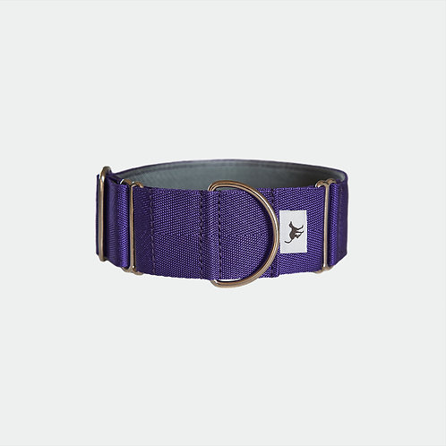 Pointy Faces Lurcher Whippet and Greyhound Wide Collar Purple UK