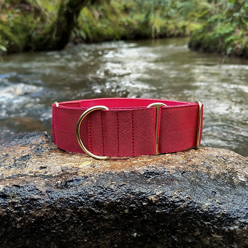 """2"""" Red Martingale Collar Lurcher Greyhound Pointy Faces"""