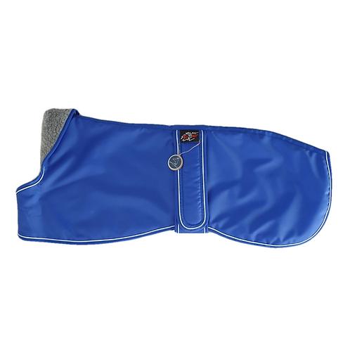 Lurcher winter coat blue