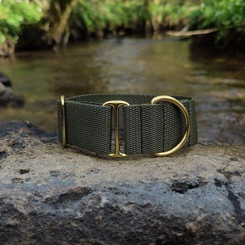"1.5"" Standard Collar in Olive Webbing"