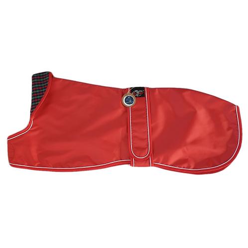 Greyhound Lurcher raincoat red