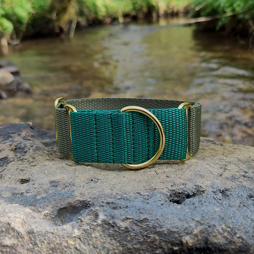 1.5 Inch Martingale Collar for Whippet Greyhound Lurcher in Green