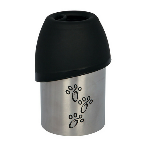 Dog Travel Water Bottle with Bowl. Black