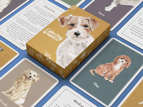 Calming Dog Games - Card deck of 52 brain games and enrichment activities