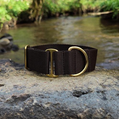 "1.5"" Standard Collar in Brown Webbing"