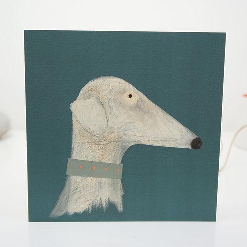 Think lurcher greyhound sighthound greeting card