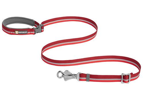 Ruffwear Crag Reflective Dog Lead in Cindercone Red
