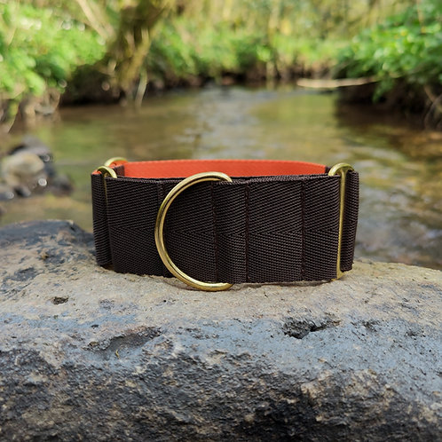 """2"""" Martingale Collar in Brown Webbing"""
