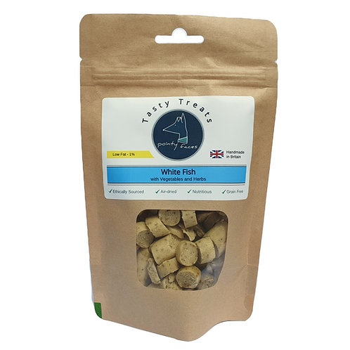 Pointy Faces White Fish Dog Treats Low Fat