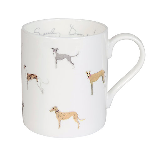 Sighthound Mug Cup - Pointy Faces gift for greyhound owner