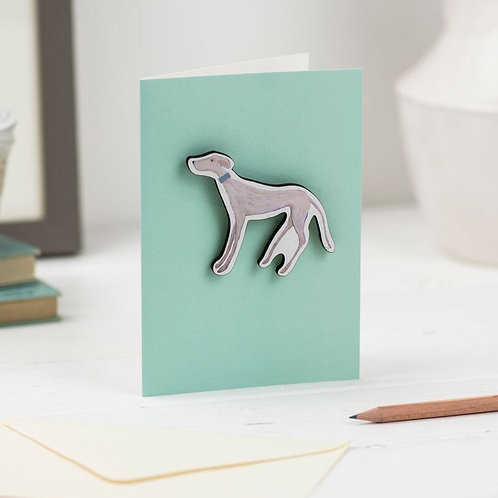 Sighthound Greeting Card and Gift Magnet