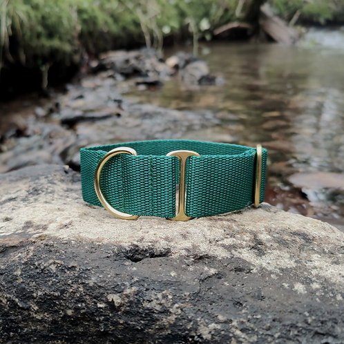 "1.5"" Standard Collar in Green Webbing"