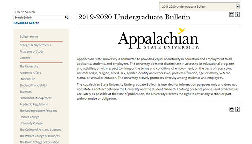 2019 Undergraduate Bulletin Screenshot.j