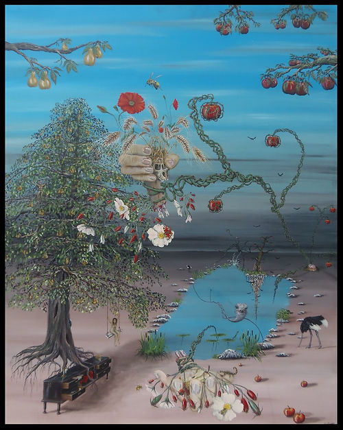 surrealism painting expressionism artist marco edelenbos contemporary art gallery rosamania