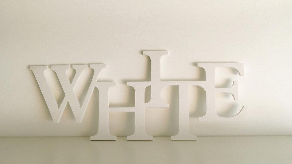 Letras em PVC