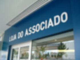 Lettering loja associado FCP - Diga ao Google
