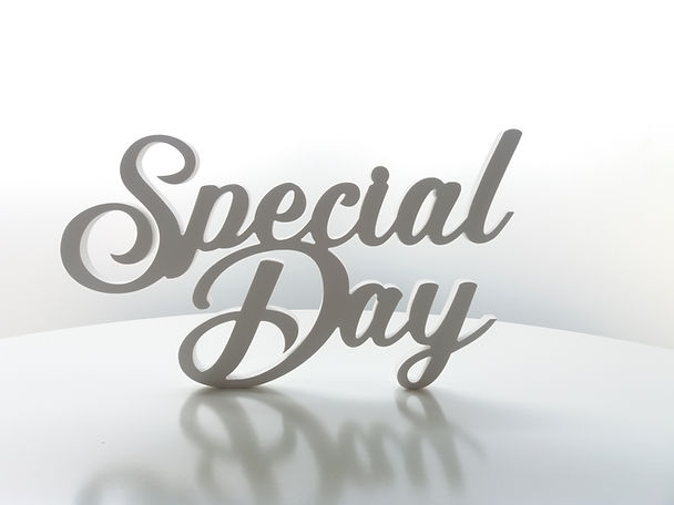 Letras em PVC Special day