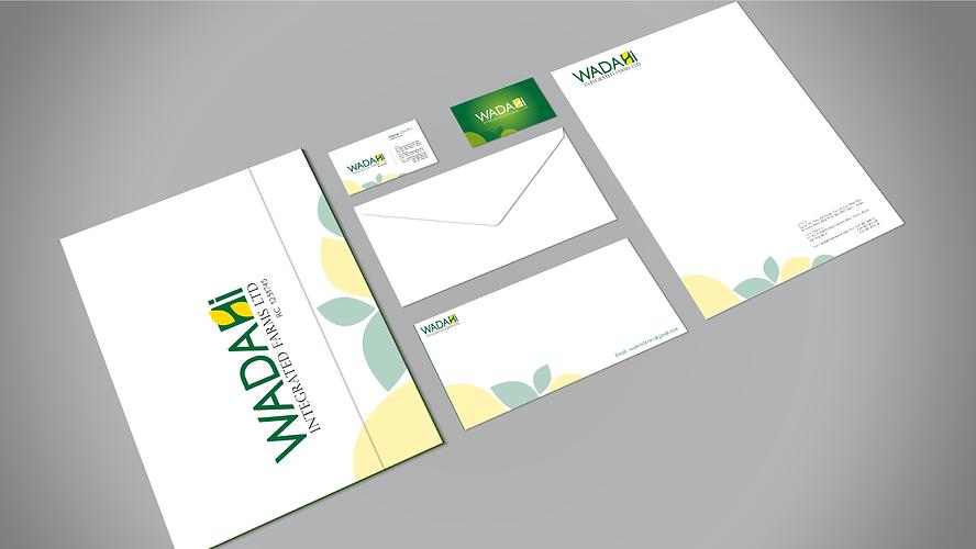 envelop, letterhead design