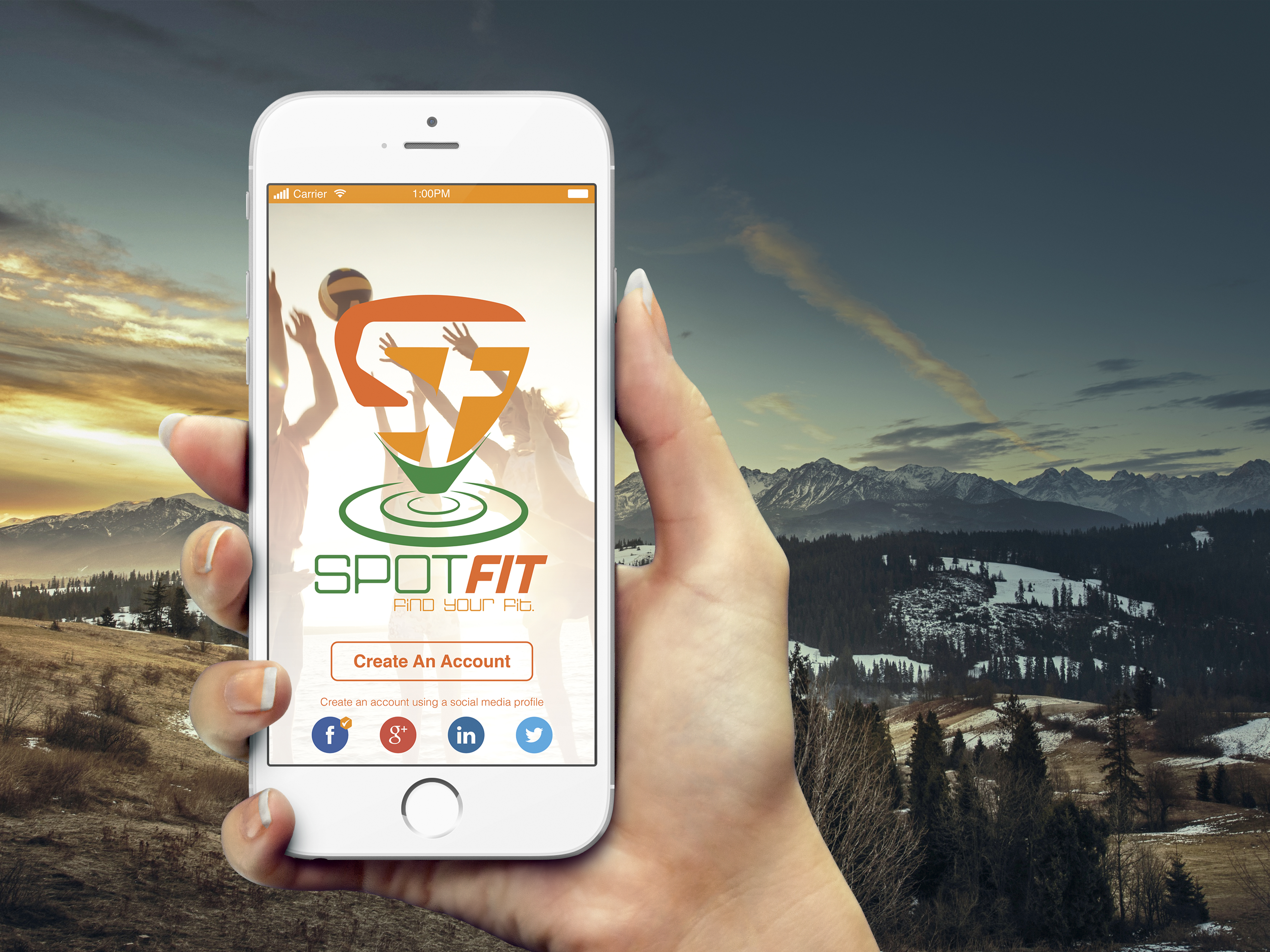 Spot Fit home screen
