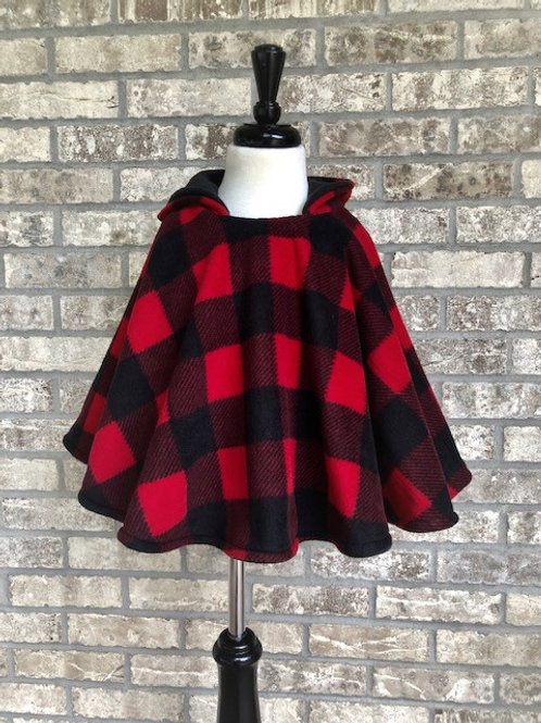 Reversible Hooded Poncho