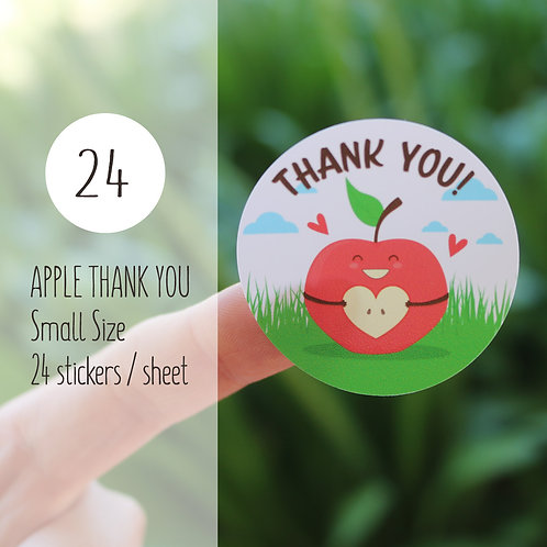 Thank You Sticker : Apple【24 stickers】