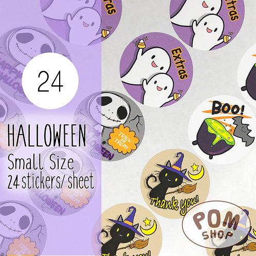 Thank You Sticker : Halloween 【24 stickers】