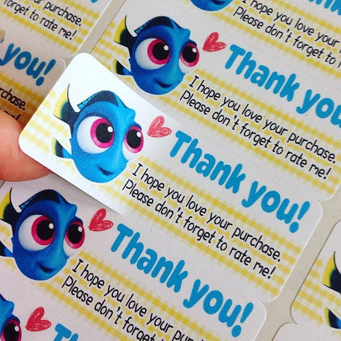 Thank you sticker : Baby Dory【30 stickers】