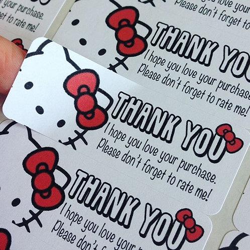 Thank you sticker : Hello Kitty【30 stickers】
