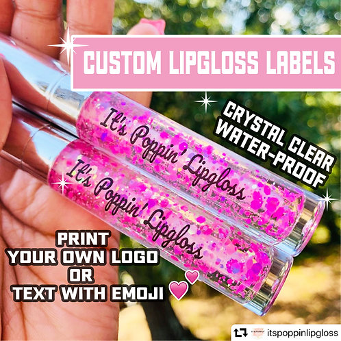 Crystal Clear stickers For Lipgloss Container and Tube
