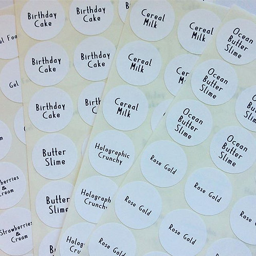 "Product Scent/Color/Flavor/Style Name Stickers 1""【63 Stickers】"