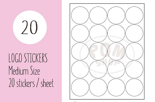 "Circle Medium 2""【20 stickers】"