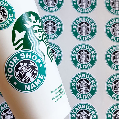 STARBUCKS Style Stickers : Add your name or text!