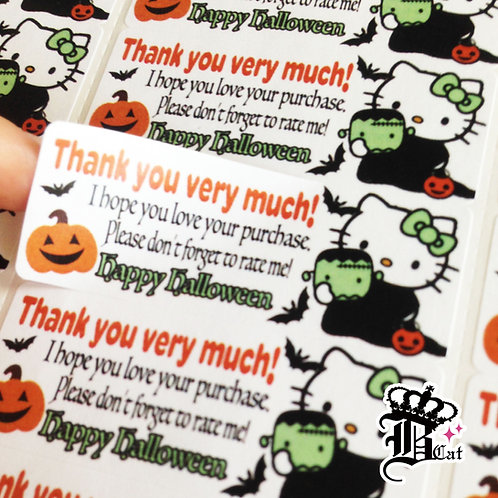 Thank you sticker : Halloween Limited Edition【30 stickers】