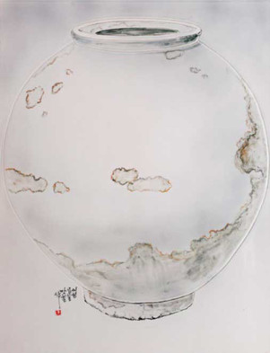 Oh-Man-Chul-Rumination---Moon-Jar-57-x-7