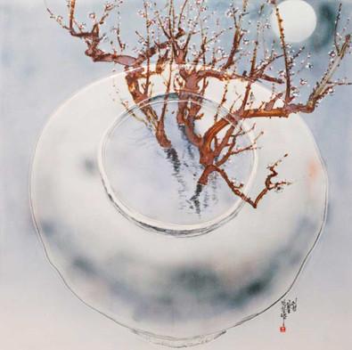 Oh-Man-Chul-Rumination---Moon-Jar,-83-x-