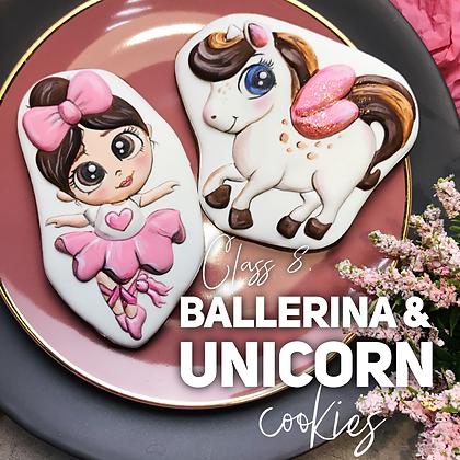 Ballerina Princess & Unicorn cookies