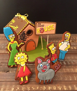 Simpsons themed cookie house