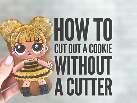 How to cut out a cookie without a cutter