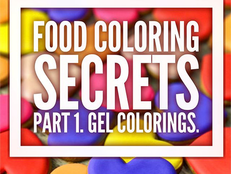 Food Colorings: part 1. Gel food colorings.
