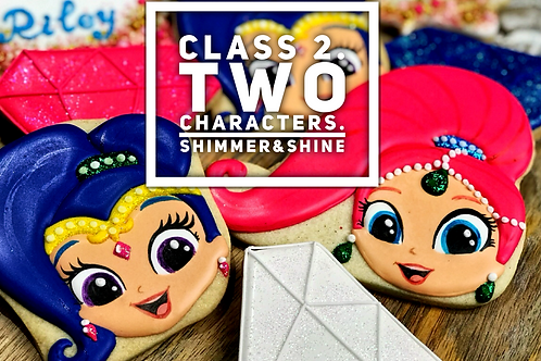 Shimmer and Shine cookies (2 characters)