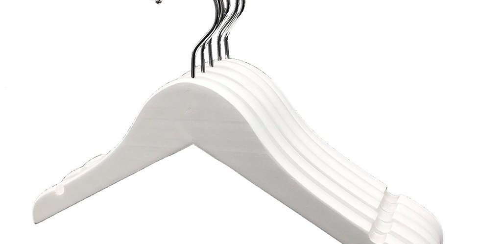 Standard Wooden Cloth Hanger - Kid / WH-010KW White