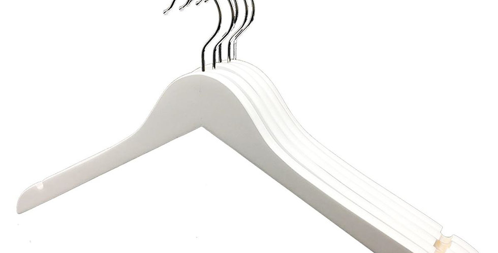 Standard Wooden Cloth Hanger / WH-010AW White
