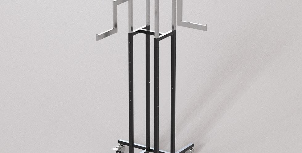 "4Way Garment Hanger Rack / 16"" Z-Shape Rectangular Arm / Apparel Retail Display"