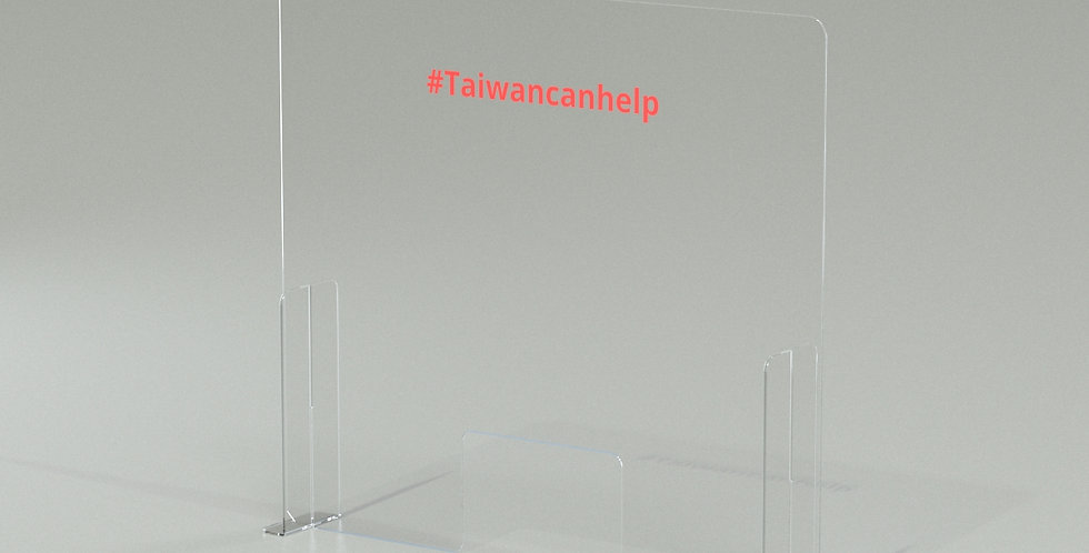 SNEZGUARD - acrylic tabletop sneeze guard / 3-PC style