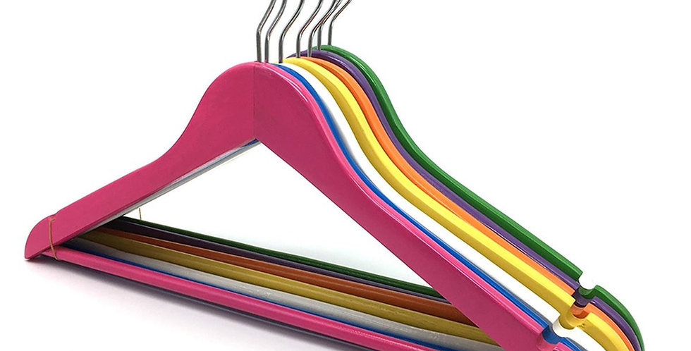 Wooden Cloth Hanger with Hanging Bar / WH-011AC Color